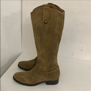 Authentic Frye tall suede leather boots Sz 6
